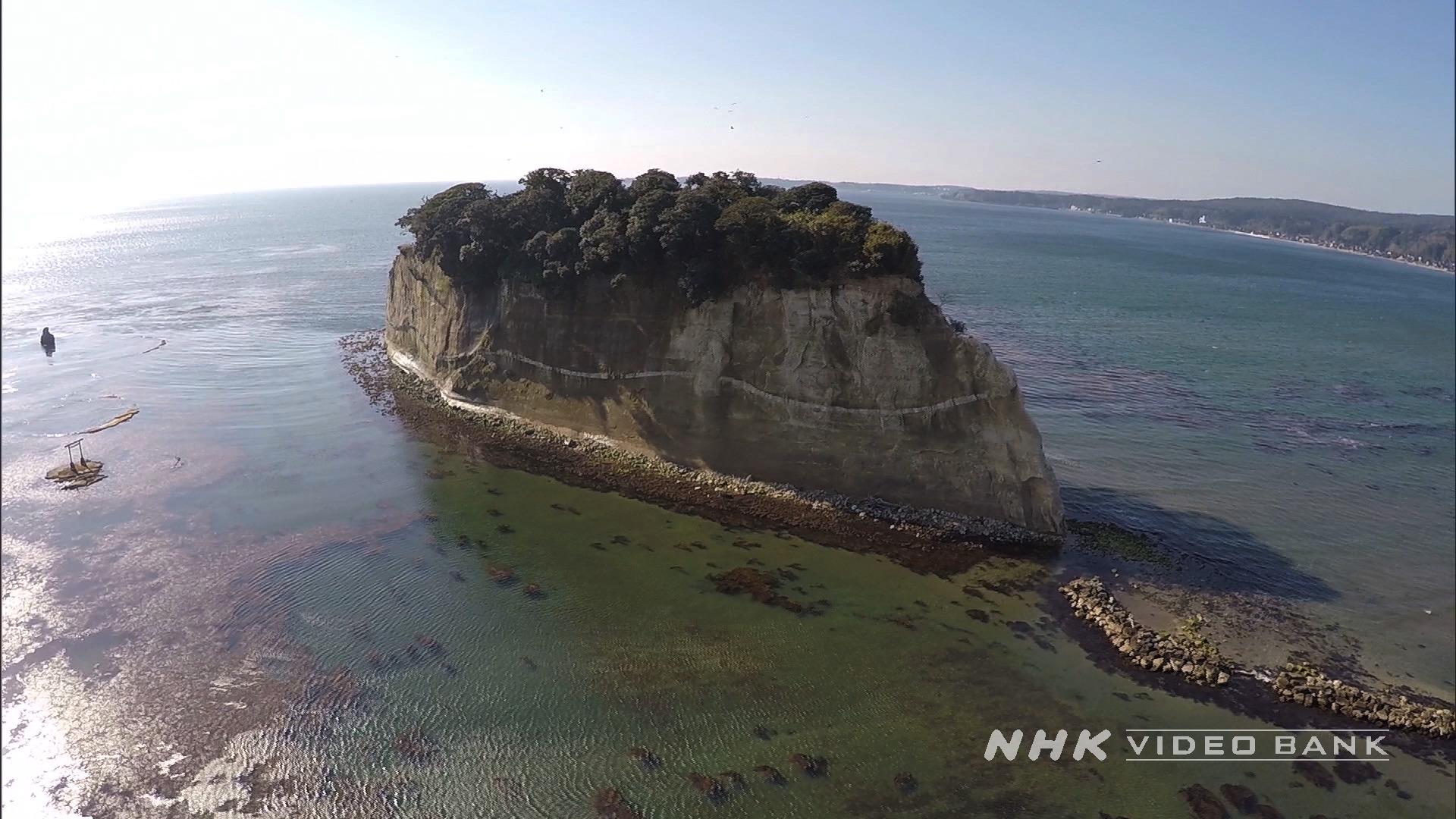 Drone shot: Mitsukejima in Noto Peninsula