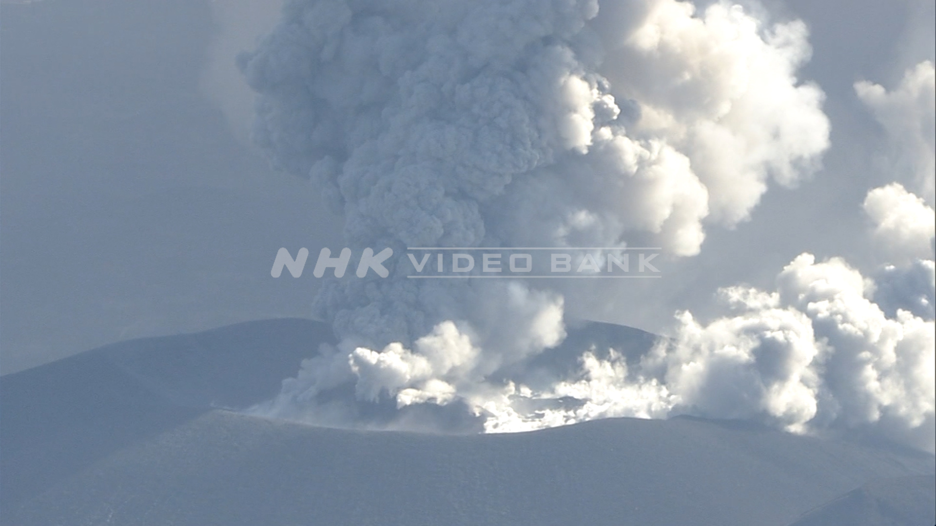 Eruptions at Mount Shinmoe volcano