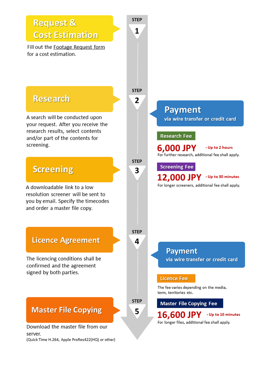 Licensing Process and Payment